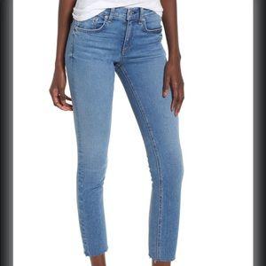 Rag & Bone Levee Cropped Raw Hem Jeans Size 28